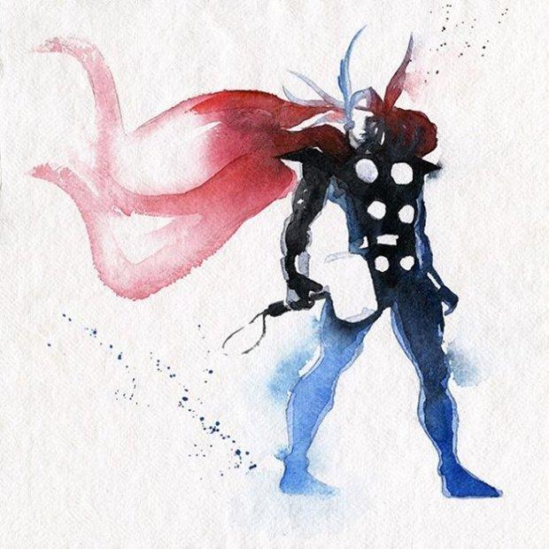 Super-Herois em aquarelas (2)