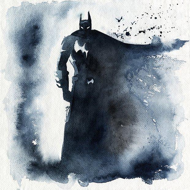 Super-Herois em aquarelas (7)