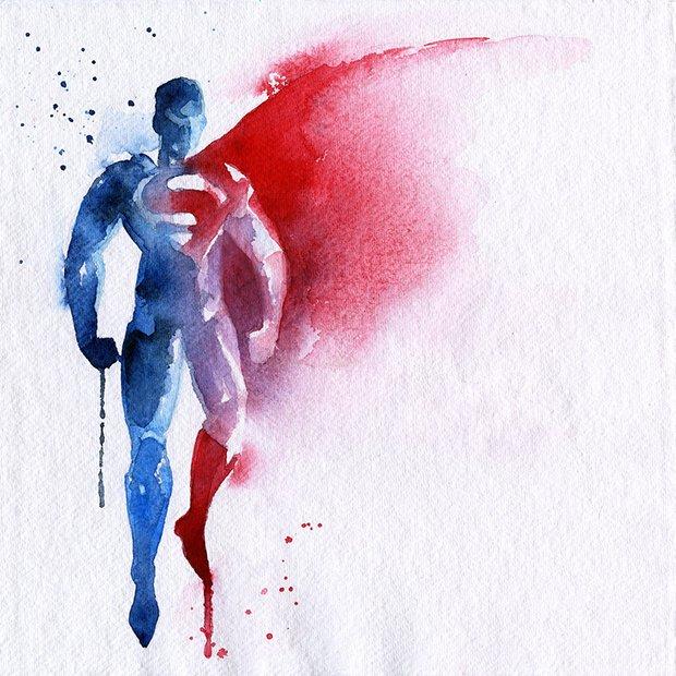 Super-Herois em aquarelas (8)