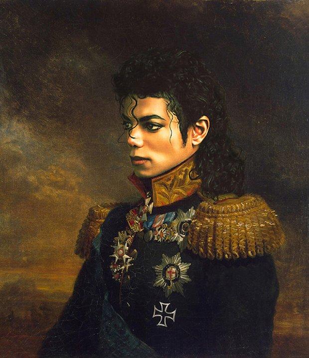 Celebridades em pinturas Neoclássicas (42)