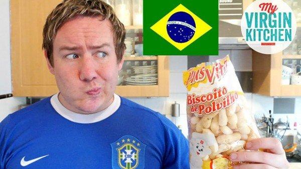 Reacao dos estrangeiros ao provarem guloseimas brasileiras