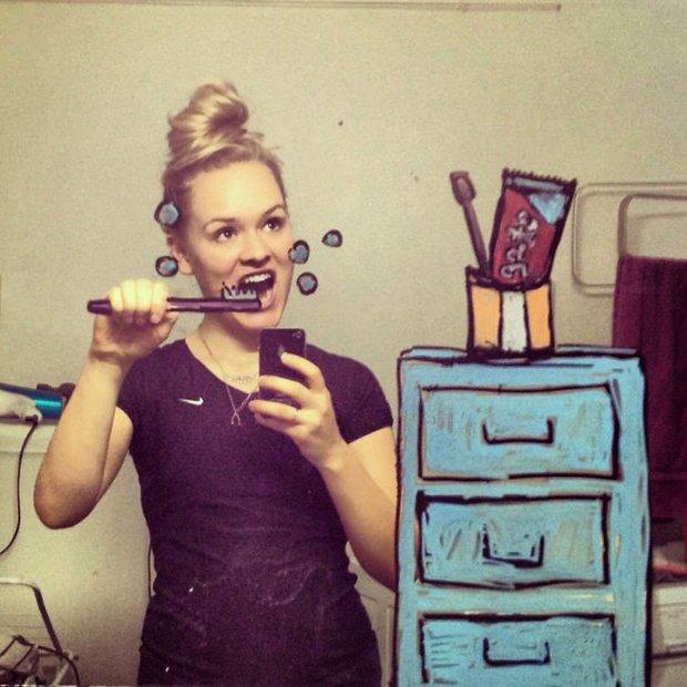 Um jeito diferente de tirar selfies no banheiro (5)