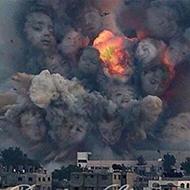 Designers tentam mostrar pro mundo o que acontece quando uma bomba explode na Palestina