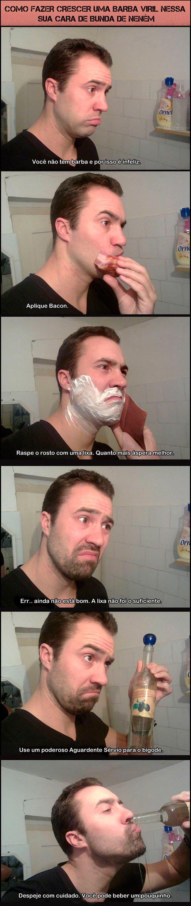 A formula mágica pra crescer barba