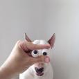 Ilustrações e um bull terrier