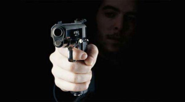 arma apontada