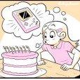 Comemorando aniversário, antes e agora