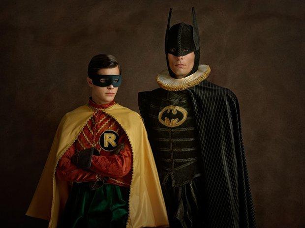 Personagens da cultura pop e super-heróis durante o renascentismo