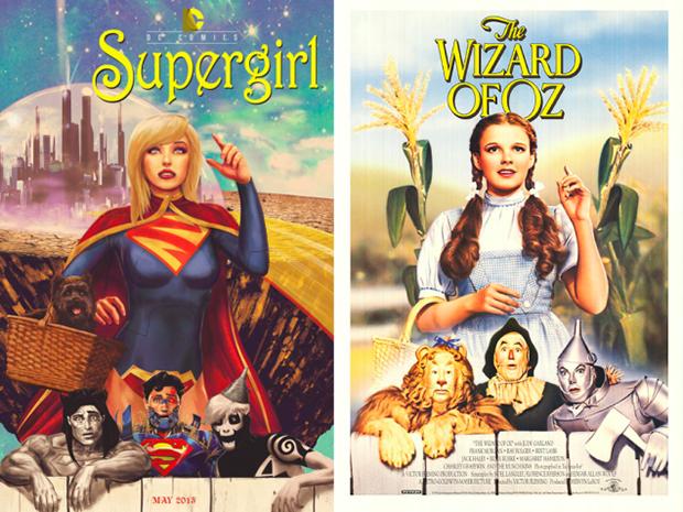 Personagens da DC em posteres de filmes famosos (1)