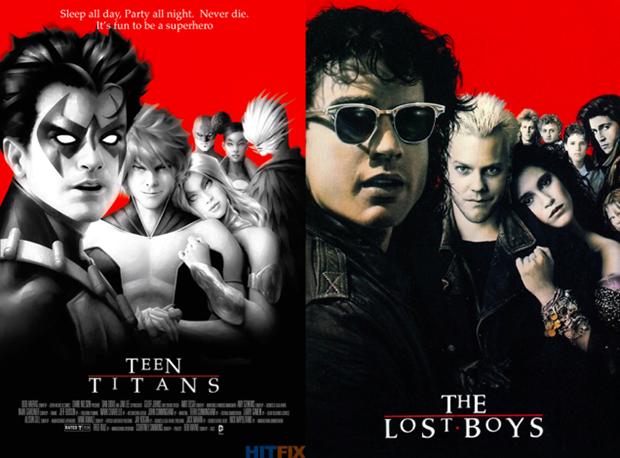 Personagens da DC em posteres de filmes famosos (10)