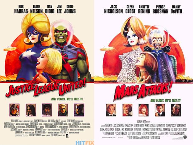 Personagens da DC em posteres de filmes famosos (12)