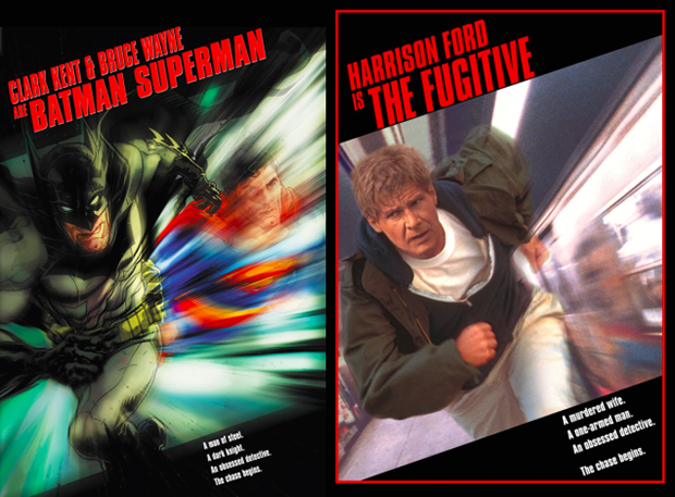 Personagens da DC em posteres de filmes famosos (13)