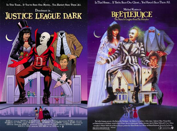 Personagens da DC em posteres de filmes famosos (15)
