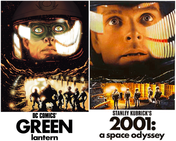 Personagens da DC em posteres de filmes famosos (16)
