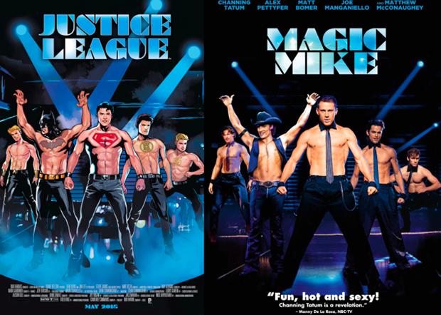 Personagens da DC em posteres de filmes famosos (17)