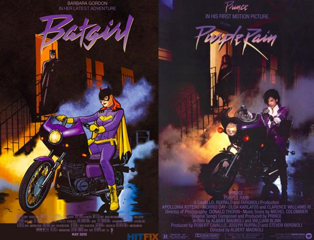 Personagens da DC em posteres de filmes famosos (18)