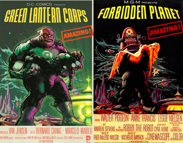 Personagens da DC em posteres de filmes famosos (21)