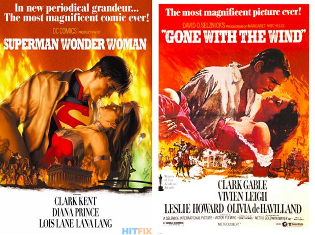 Personagens da DC em posteres de filmes famosos (22)