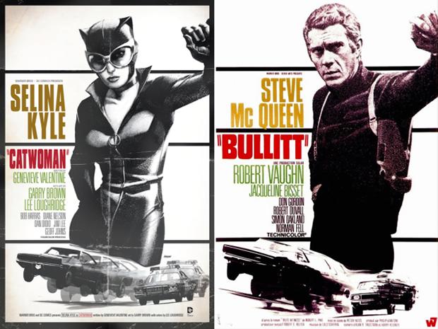 Personagens da DC em posteres de filmes famosos (3)