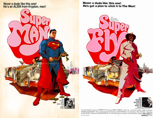 Personagens da DC em posteres de filmes famosos (4)