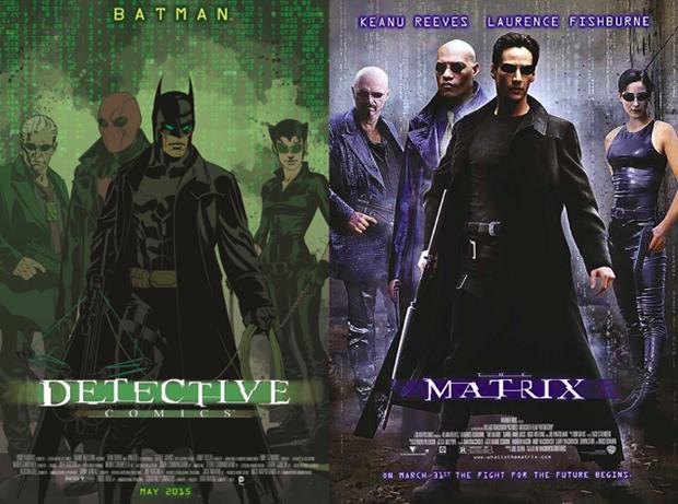 Personagens da DC em posteres de filmes famosos (6)