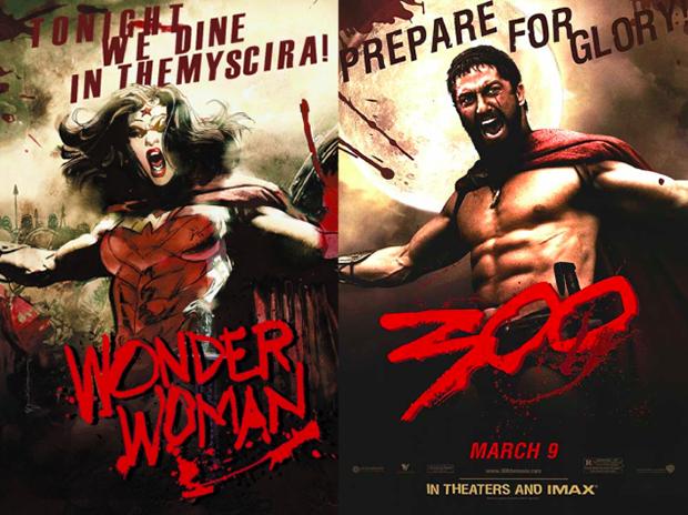 Personagens da DC em posteres de filmes famosos (7)