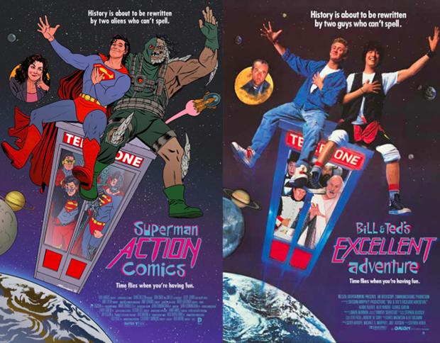 Personagens da DC em posteres de filmes famosos (8)