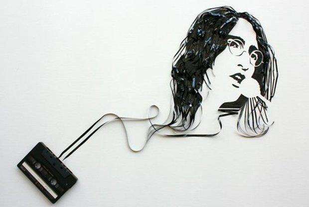 Fazendo arte com fitas K7 (11)