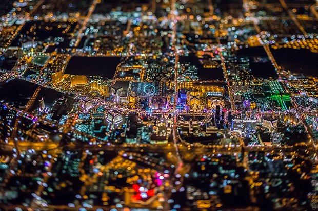 Vista aérea de Las Vegas