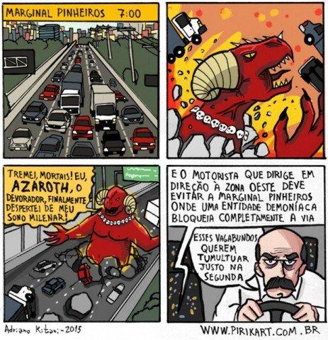 Apenas um dia normal no trânsito de Sao Paulo