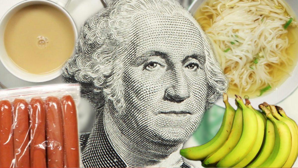 Quanto de comida voce pode comprar com 5 pelo mundo