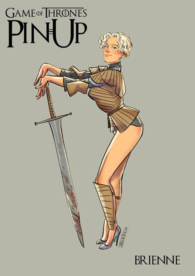 Personagens de Game of Thrones como modelos Pin-Ups (1)