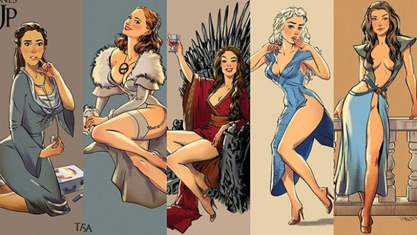 Personagens de Game of Thrones como modelos Pin Ups 10