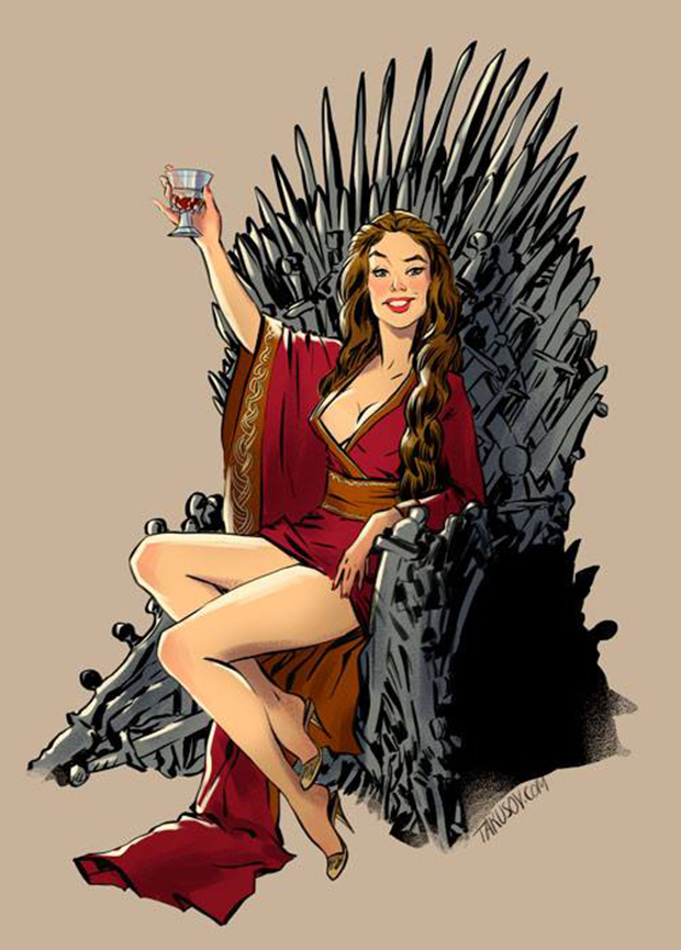 Personagens de Game of Thrones como modelos Pin-Ups (12)
