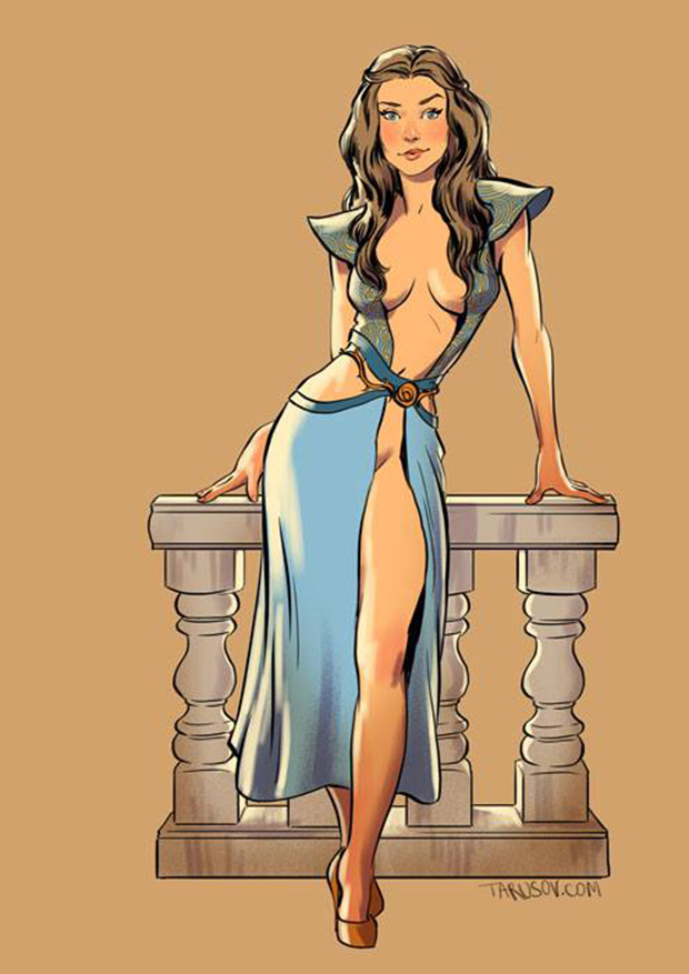 Personagens de Game of Thrones como modelos Pin-Ups (3)
