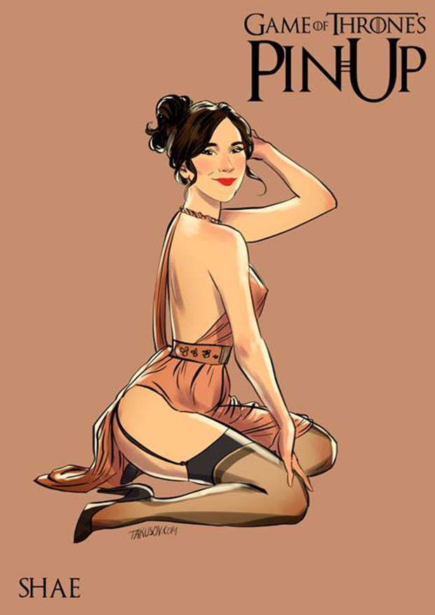 Personagens de Game of Thrones como modelos Pin-Ups (4)