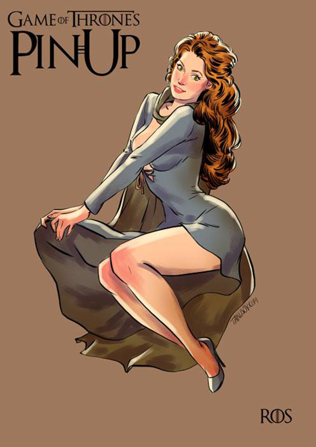 Personagens de Game of Thrones como modelos Pin-Ups (5)