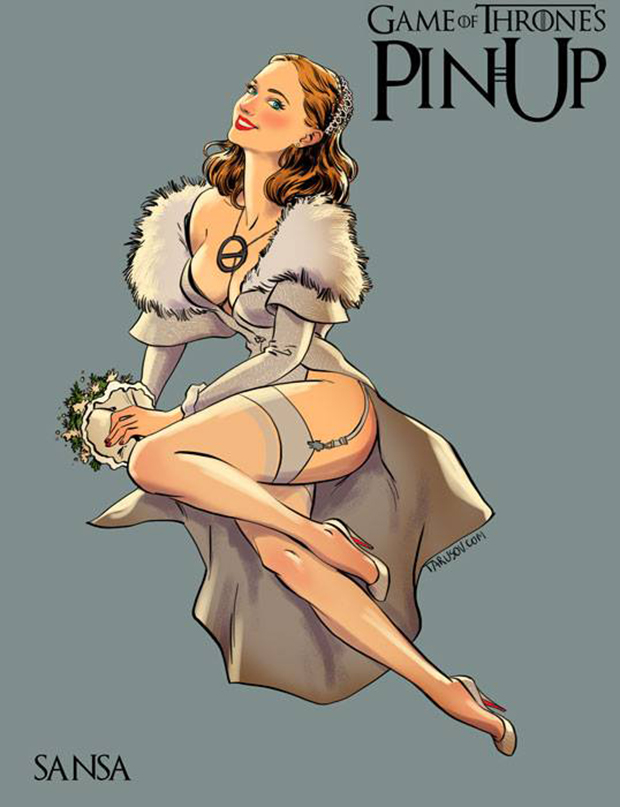 Personagens de Game of Thrones como modelos Pin-Ups (7)