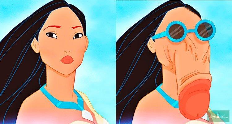 Princesas da Disney como se fossem meu pau de óculos