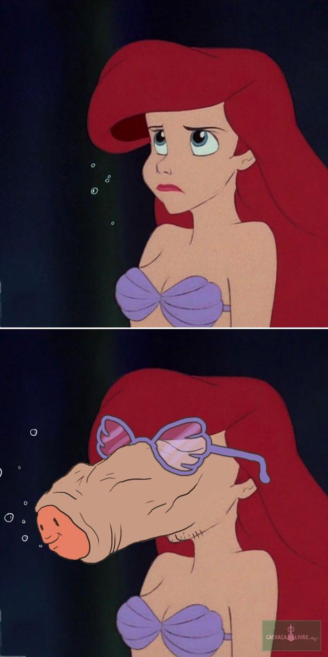 Princesas da Disney como se fossem meu pau de oculos (1)