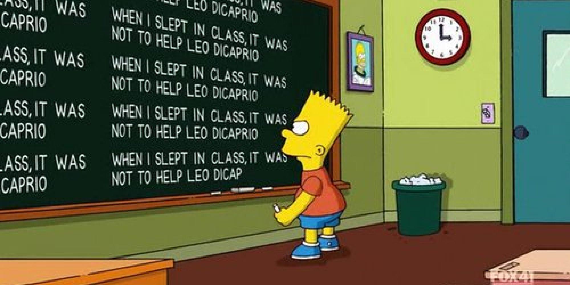 Todas as frases que o Bart escreveu na lousa na abertura dos Simpsons