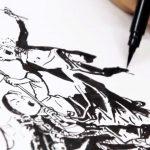 KIMG JUNG GI Desenhando a bandeira coreana
