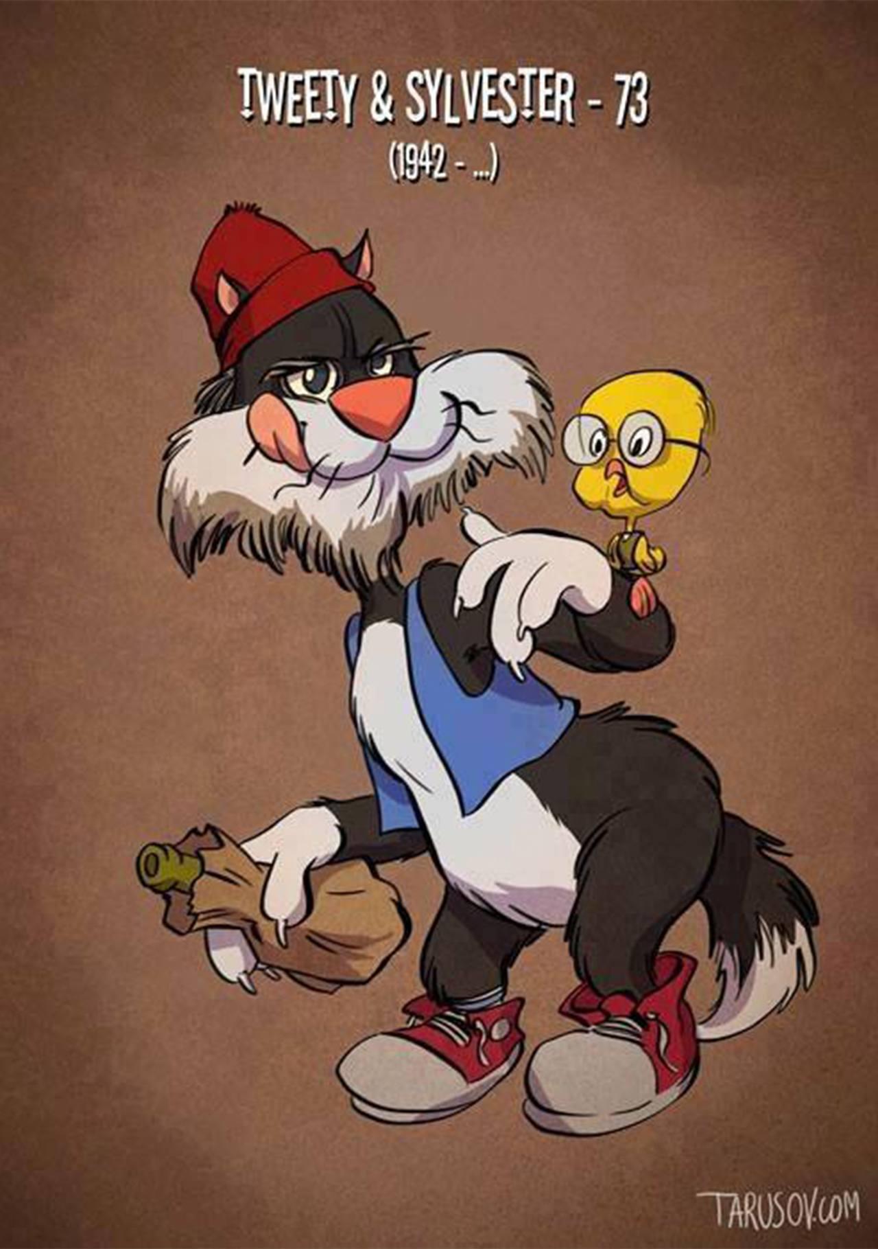 Como alguns personagens dos desenhos animados estariam atualmente (2)
