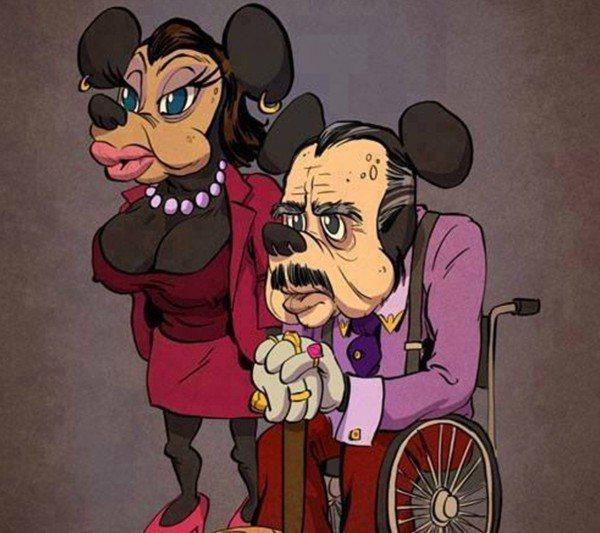 Como alguns personagens dos desenhos animados estariam atualmente 91