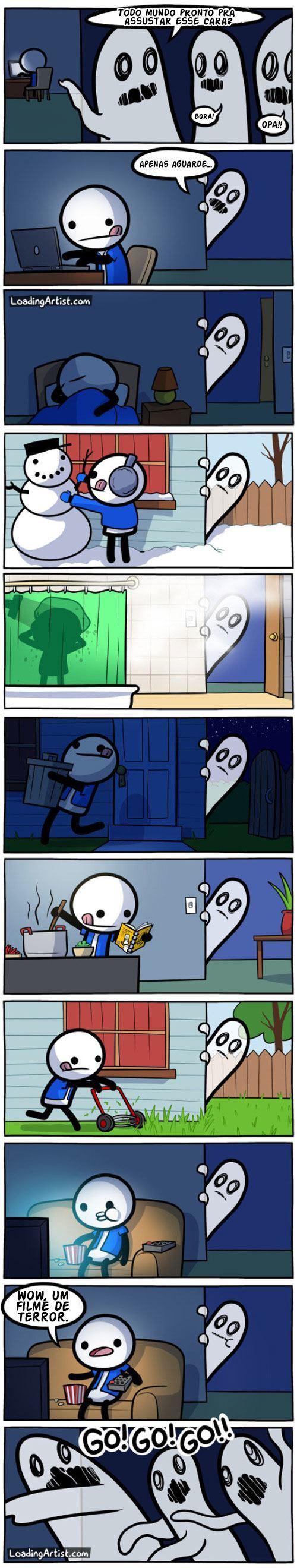 Fantasmas so assustam nos momentos mais propicios
