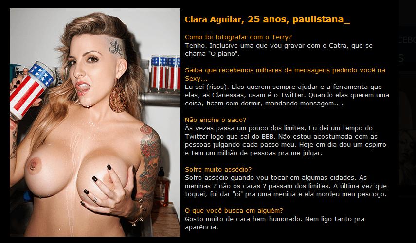 Fotos Sexy Clara Aguilar Novembro (1)