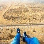 Escalando uma piramide do egito de 146 metros 5