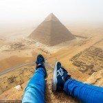 Escalando uma piramide do egito de 146 metros 7