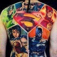 Tatuagens inspiradas em quadrinhos