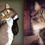 Usando a personalidade de animais de estimacao para criar caricaturas 12